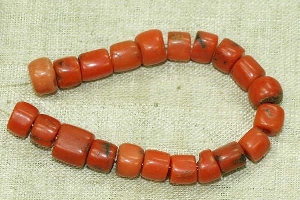 Small Rare Berber Red Coral Beads
