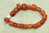 Strand of 19 Small Rare Berber Red Coral Beads