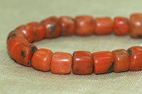 Strand of 25 Rare Berber Red Coral Beads