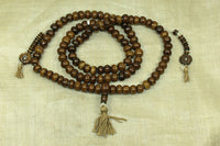Bone Buddhist Prayer Beads from Tibet