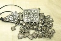 Antique Afghan Silver Necklace Beads and Components