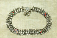 Vintage Silver Anklet with bells from India