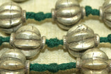 Antique Knotted silver bead necklace from India