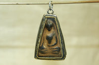 Small Ceramic Buddhist Pendant