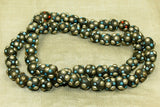 "Himalayan silver, glass, turquoise and coral ""Paste"" Beads"
