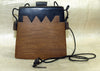 Large Traditional Indonesian Tobacco Palmwood Purse from Lou Zeldis