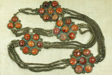 Vintage 1960s Belt from India with Carnelian Inlay