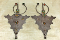 Pair of 19th Century Silver Berber Scarf Weights