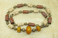 Vintage 80s Trade Bead Necklace