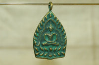 Brass Buddha Pendant from Thailand with patina