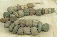 Strand of Antique Ceramic Beads from Burma