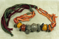 Old Berber coral and Moroccan silver necklace