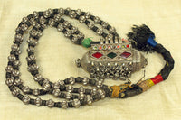 Antique Double Strand Silver Necklace from India