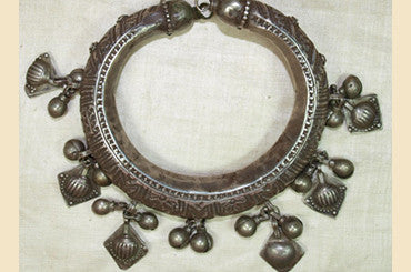 Afghan Silver Bracelet with Dangles
