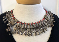 Vintage 1940s Silver Necklace from Afghanistan