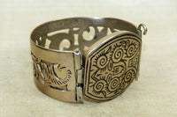 Silver Bracelet from Morocco with Niello Detail