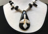 Vintage '50s Native American Jet and Shell Necklace