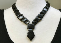 Afghan Necklace made of Antique Carved Jet