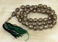 Large Vintage Silver Prayer Bead Necklace from Ethiopia