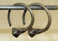 Vintage Tuareg Silver Hoop Earrings