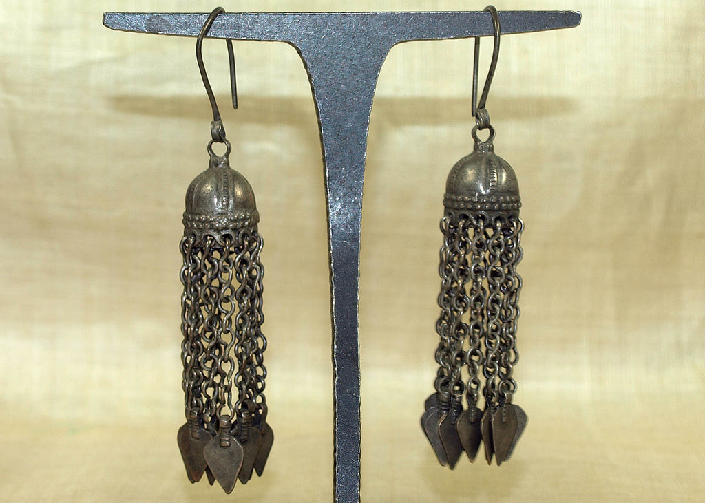 Cool Antique Silver Earrings from Afghanistan