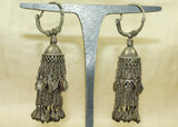 Antique Silver Tassel Earrings from Afghanistan