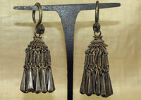 Pair of Antique Hmong Silver Earrings