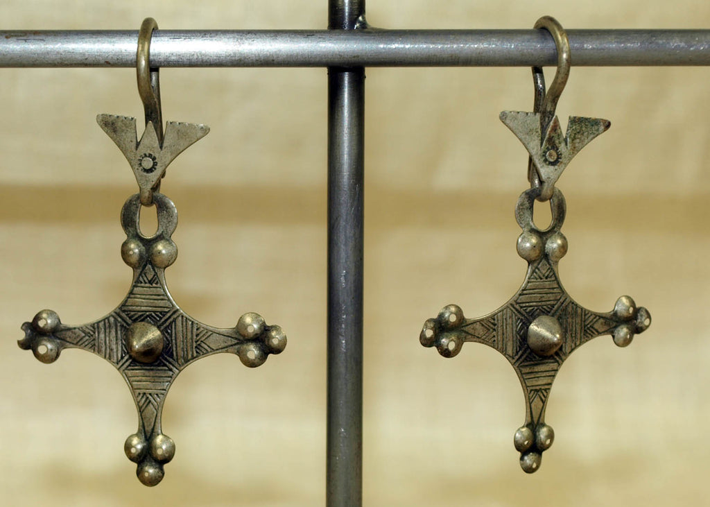 Pair of Vintage Silver Tuareg Earrings