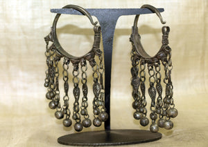 Cool Antique Silver Earrings from Yemen