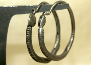 Pair of Antique Silver Earrings from Yemen