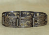 Vintage Peruvian Silver Bracelet with Incan Images