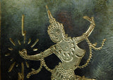 Vintage Siam Sterling Silver Pin, Manimekhala, Goddess of Lightning
