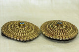 Vintage Gilded Earrings from Nepal, pair