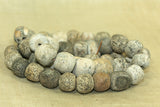 Strand Fossilized Stegodon Bone Beads