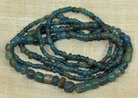 Strand of Aqua Green Ancient Cambodian Glass Beads