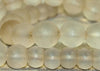 Strand of Matte Finsih Quartz Beads