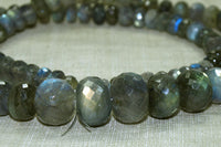 Strand of Faceted Labradorite Rondelles