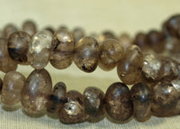 Strand of Small Heat Treated Brown Quartz Beads