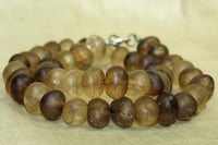 Medium-size Heat Treated Brown Quartz beads