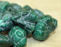 Strand of Incredible Malachite Nodule Beads