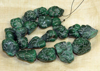 Incredible Malachite Chunky Nodule Beads