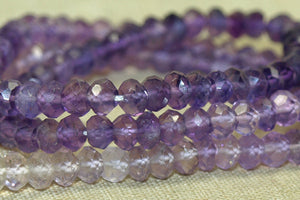 Strand of 4mm Faceted Amethyst Rondelles