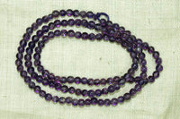 Small Round Amethyst beads