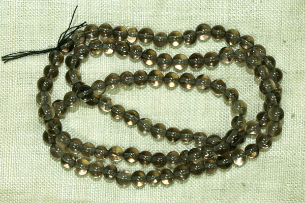 4mm Gray Quartz Gemstone beads
