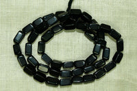 7mm Black Onyx rectangle Gemstone beads