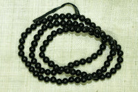 3.5mm Blue-Black Spinel beads