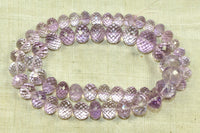 Stunning strand of faceted amethyst beads