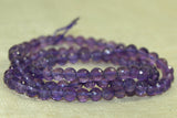 small faceted amethyst round beads
