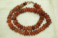 Saucer Shaped Carnelian Beads from Aghanistan