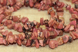 Lovely Pink and Black Rhodonite Chips